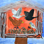 1.Kl. Vögel am Futterhäuschen