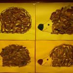 1. Kl. Igel aus Ahornsamen