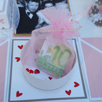 Organzasäckchen aus dem Bastelladen für Sweets oder anderes