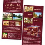 Flyers Gîte La Rouchie, format 10x20cm