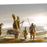 Banderole pour le site préhistorique de Castel Merle - Sergeac