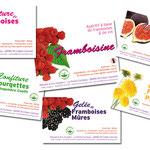 Déclinaison étiquettes produits autocollantes
