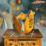 La marioneta (Escena de un crimen) - Óleo - 50x70cm - Daniel Dankh