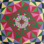 Geométrico I - Serie: Geométrica A - Acrílico sobre madera - 50x70cm - 2007 - María Jesús Peralta Lavarello