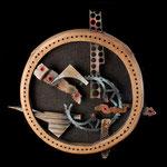Rosa de los vientos - Relieve en madera y chatarra - 55x55cm - 2007 - Carlos di Leone