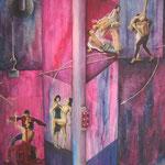 Acerca de las relaciones-tolera  - Óleo s/tela - 80x 60 cm - Enrique Engelland