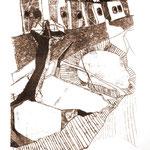 Monocopia s/papel - Técnica del dibujante - 35x50cm - 2011 - Nicole Engelhardt