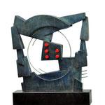 Juego lúdico - Escultura en cemento patinado - 31x25x14cm - 2000 - Carlos di Leone