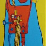 Máquina de coser - Técnica mixta - 45x95cm - Jimena Geri