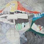 Monocopia s/papel intervenida con collage y calados - 100x70cm - 2013 - Nicole Engelhardt