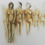 Almas en silencio - Acuarela - Liliana Fardutto