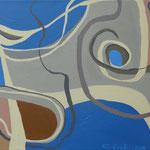 2013 - Maraña de líneas - 60x30cm - Acrílico - Cecilia Lackinger