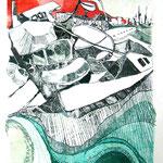 Monocopia s/papel - Técnica del dibujante . 35x50cm - 2011 - Nicole Engelhardt