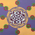 Geometrico II - Serie: Geométrica B - Acrílico s/madera - 40x50cm - 2007 -María Jesús Peralta Lavarello