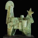 Viaducto de Tiahuanaco - Escultura en cemento patinado - 31x25x14 - 2000 - Carlos de Leone
