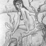 Sin título - Lápiz s/papel - 45x32cm - 2012 - María Jesús Peralta Lavarello