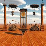 El reloj - Arte digital - Susana Rovó