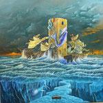 Pilar de amarre - Óleo - Daniel E. Dankh