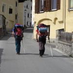 Abmarsch in Pontresina