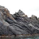 Tableau géologique du trait de côte de la Costa Brava