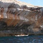 Mouvements simultanné de l'embarcation et du monde géologique !