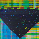 """冠 """"crown"""" watercolors, acrylics on canvas, 500×606mm, 2010"""