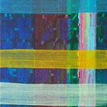 """無題(暗いチェック) """"untitled (dark check)"""" acrylics on canvas, 273×220mm, 2008"""