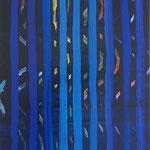 """無題 """"untitled"""" acrylics,gesso on panel, 51.4×36.4mm, 2008"""