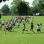 Staffellauf am Sporttag