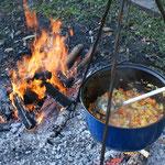 Projekt zur Ernährungslehre  - Kochen am Feuer