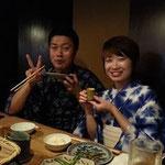榊原夫妻。美味しいお酒と素敵な笑顔です