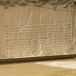 die Mauersteine entstehen