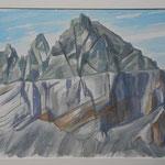 Gelogie Gr. Tschingelhorn-Martinsloch-Aquarell 31x45 cm-PP.48x60 cm-2014