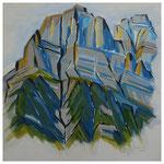 Vorderglärnisch-Vrenelisgärtli / Acryl auf LW - 100x100 cm / 2014