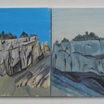 Geologie Tschingelhoren Ost&West- 2 Acryl auf LW -60x150cm-2012