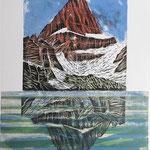 Grosser Kärpf I / Holzschnitt & Litho, Auflage 8 Ex./ 1991