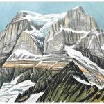 Tödi (vom Ochsenstock) Litho vom Stein, Auflage 8 Ex./ 1989