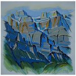 Vrenelisgärtli-Ruchen / Acryl auf LW - 100x100 cm / 2014