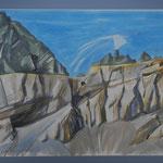 Martinsloch packte  die Kletterlust - Aquarell 50x72 cm -PP.70x90- 2012