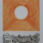 Sonne ü.den Tschingelhoren-Kupferstich- 10 Ex. 1996