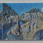 Geologie Martinsloch Ost (GR) 3 Acryl auf LW-60x140 cm-2012