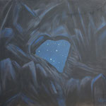 Martinsloch-um Mitternacht-Acryl auf BW-100x115 cm-1992-2012