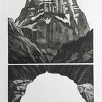 Selbsanft II , Aquatinta, schwarz, Auflage 10 Ex./ 1990