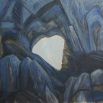 Martinsloch-früher Morgen - Acryl auf BW -100x115 cm-1992-2012