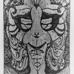 Milchspüelerseegeist I, Aquatinta (Seespiegelung vertikal) schwarz, Auflage 5 Ex. / 1987