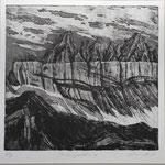 Tschingelhoren-SW-Radierung - 10 Ex. 1988
