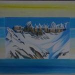 Winterlicht Tschingelhoren - Acryl & Spachtel auf LW 70x100 cm - 2014