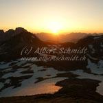 Sonnenaufgang auf dem Gipfel des Schilt - 05'30 h