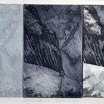Bergwetter am Tödi ( Trilogie) Fotoradierung 3-farbig, 2 EA. Ex. / 1995