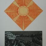 Tag & Nacht Tschingelhoren - Kupferst.& Radierung- 10 Ex. 1996